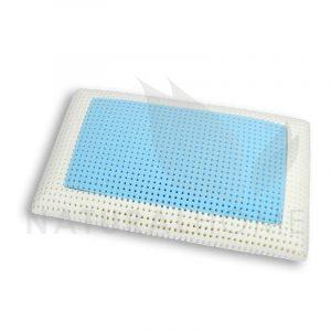 Gio cuscino a saponetta in memory foam con inserto azzurro