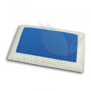 Gio cuscino a saponetta in memory foam con inserto blu