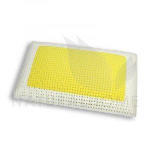 Gio cuscino a saponetta in memory foam con inserto giallo